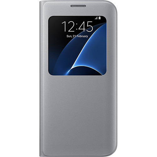 Samsung S-View Flip Cover for Galaxy S7 edge (Silver)