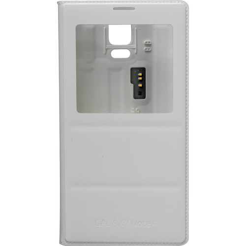 Samsung S-View Flip Cover for Galaxy Note 4 (Frost White)