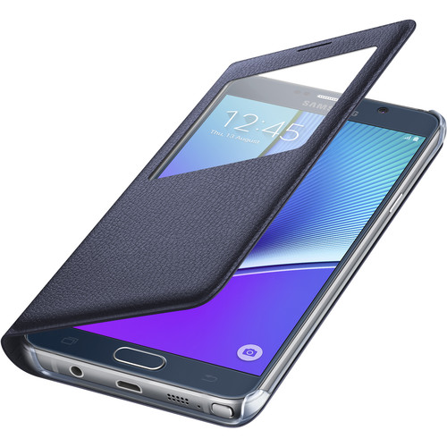 Samsung S-View Flip Cover for Galaxy Note 5 (Black Sapphire)
