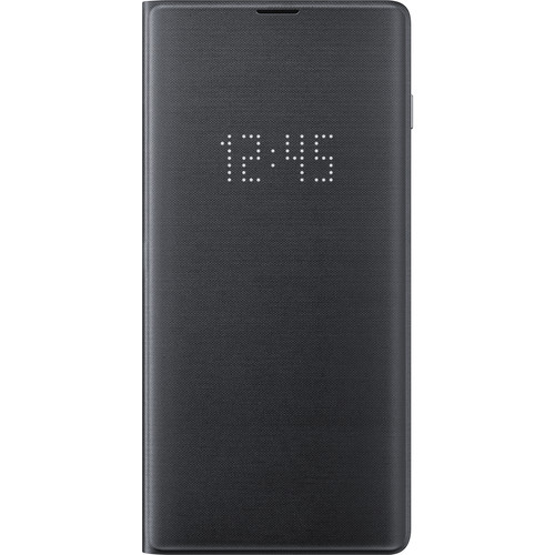 Samsung LED Wallet Cover for Galaxy S10+ (Black)
