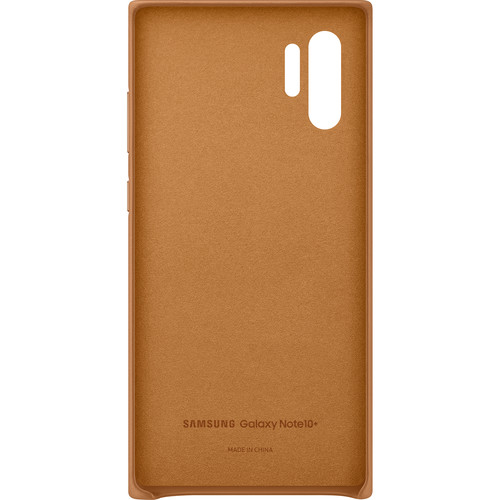 Samsung Galaxy Note10+ Leather Back Cover (Tan)