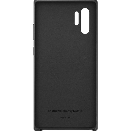 Samsung Galaxy Note10+ Leather Back Cover (Black)