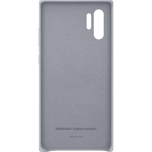 Samsung Galaxy Note10+ Leather Back Cover (Silver)