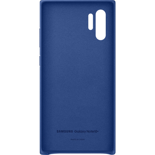 Samsung Galaxy Note10+ Leather Back Cover (Blue)