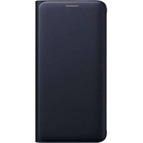 Samsung Wallet Flip Cover for Galaxy S6 edge+ (Black Sapphire, Polyurethane Leather)