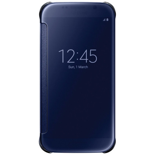 Samsung S-View Flip Cover for Galaxy S6 (Clear Black)