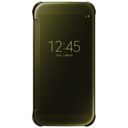 Samsung S-View Flip Cover for Galaxy S6 (Clear Gold)