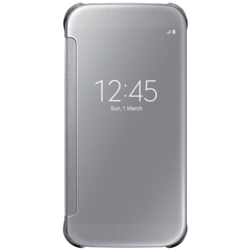Samsung S-View Flip Cover for Galaxy S6 (Clear Silver)