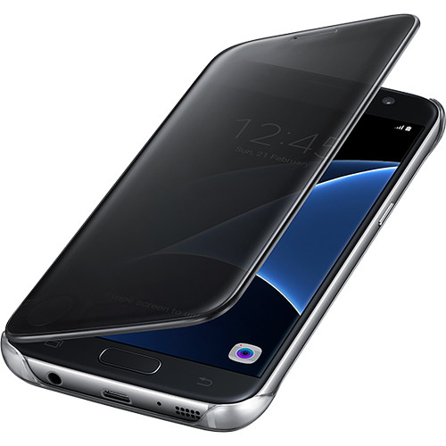 Samsung S-View Flip Cover for Galaxy S7 edge (Clear Black)