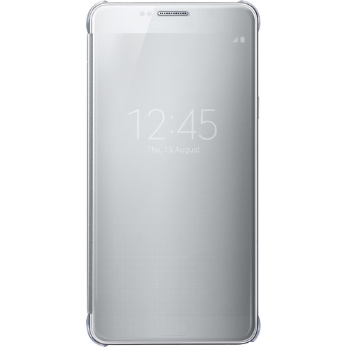Samsung S-View Flip Cover for Galaxy Note 5 (Clear Silver)