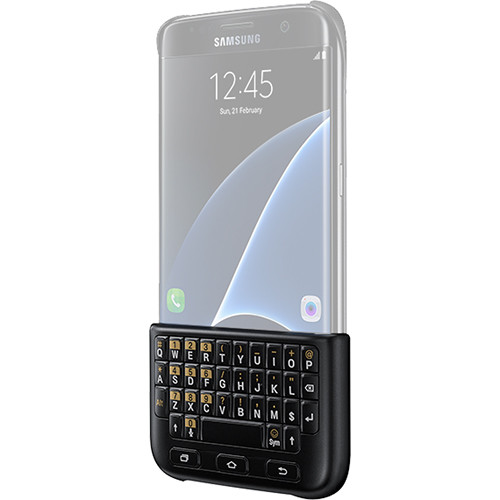 Samsung Galaxy S7 edge Keyboard Cover Case (Black)