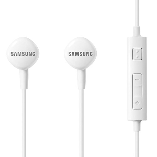 Samsung HS130 Wired Headset With Inline Mic and Remote Control (White)