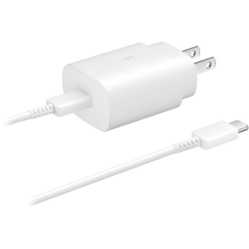 Samsung 25W USB Type-C Fast Charging Wall Charger (White)
