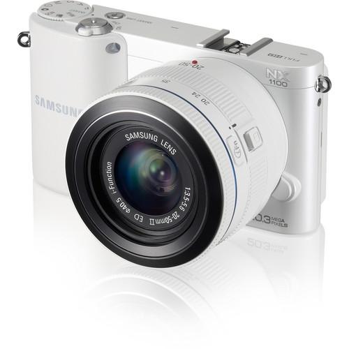 Samsung NX1100 Mirrorless Digital Camera with 20-50mm f/3.5-5.6 Lens (White)