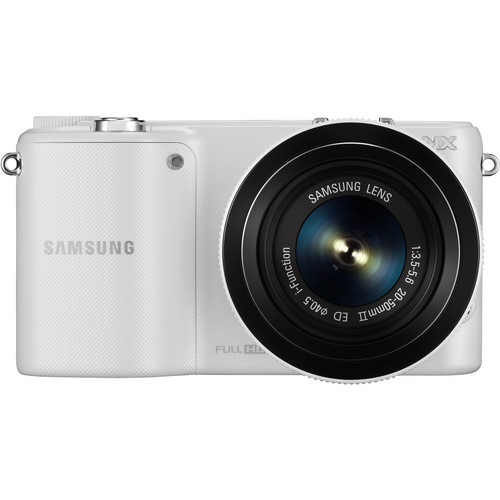 Samsung NX2000 Mirrorless Digital Camera with 20-50mm f/3.5-5.6 Lens (White)