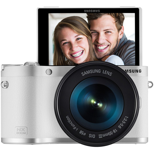 Samsung NX300M Mirrorless Digital Camera with 18-55mm f/3.5-5.6 OIS Lens (White)