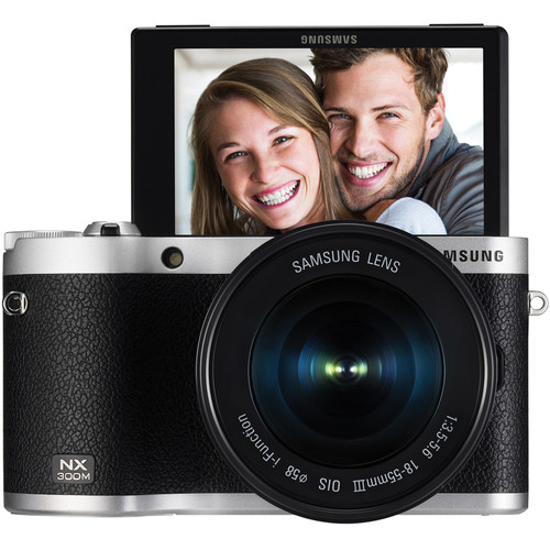 Samsung NX300M Mirrorless Digital Camera with 18-55mm f/3.5-5.6 OIS Lens (Black)