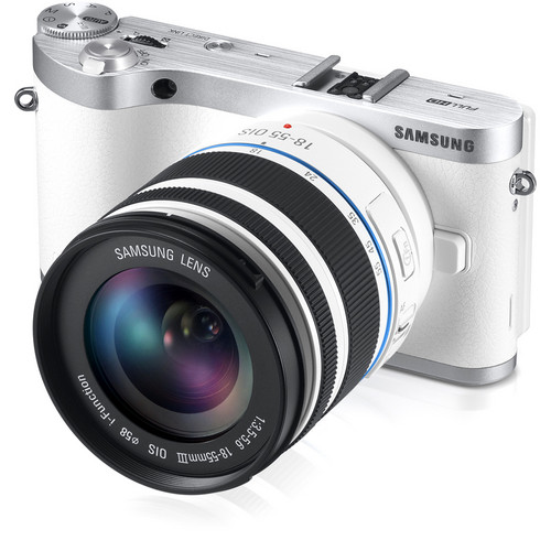 Samsung NX300 Mirrorless Digital Camera with 18-55mm f/3.5-5.6 OIS Lens (White)