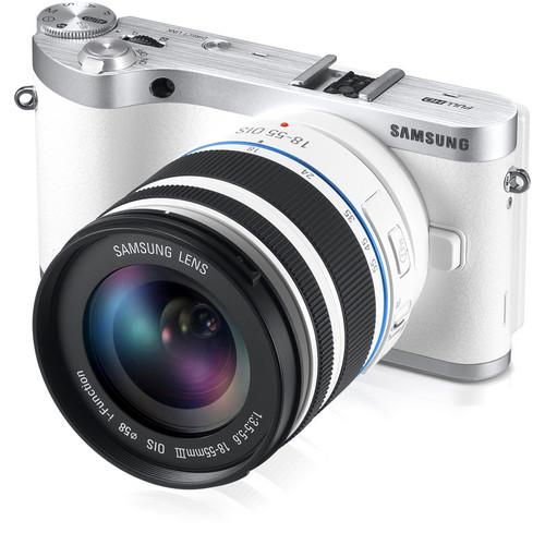 Samsung NX300 Mirrorless Digital Camera with 18-55mm f/3.5-5.6 OIS Lens (White)