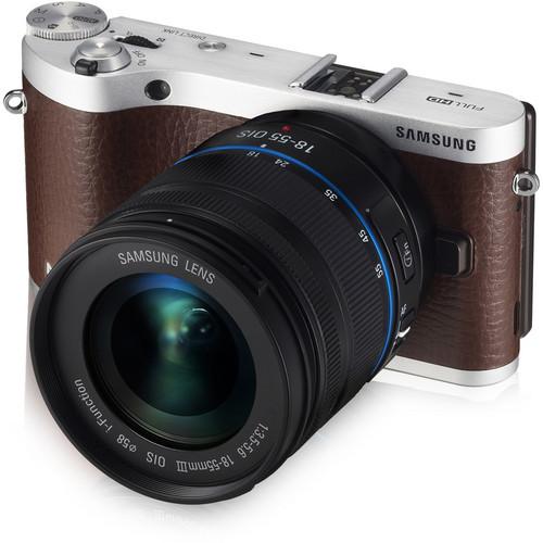 Samsung NX300 Mirrorless Digital Camera with 18-55mm f/3.5-5.6 OIS Lens (Brown)