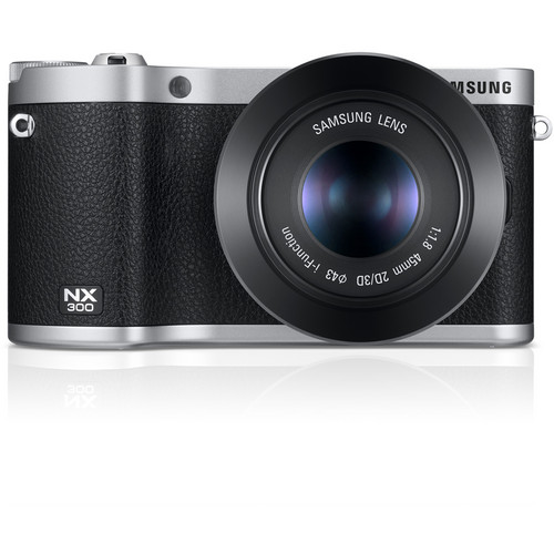 Samsung NX300 Mirrorless Digital Camera with 45mm f/1.8 2D/3D Lens (Black)