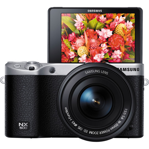 Samsung NX500 Mirrorless Digital Camera with 16-50mm Power Zoom Lens (Black)