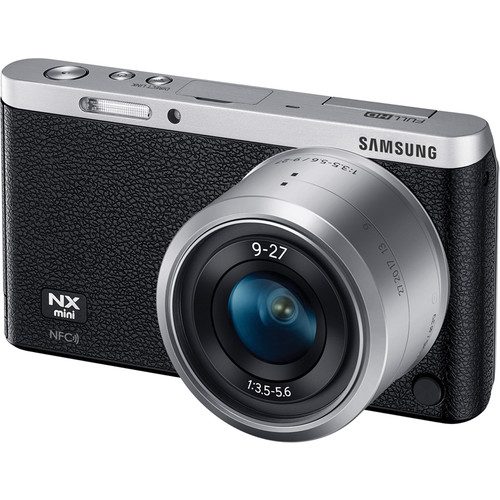 Samsung NX Mini Mirrorless Digital Camera with 9-27mm Lens and Flash (Black)