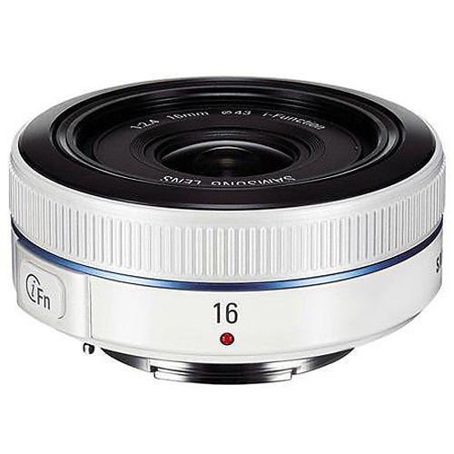 Samsung 16mm f/2.4 Ultra Wide Pancake Lens (White)