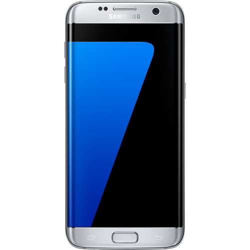 Samsung Galaxy S7 edge 32GB Smartphone with Clear Silver Protective Cover Kit (Unlocked, Silver)