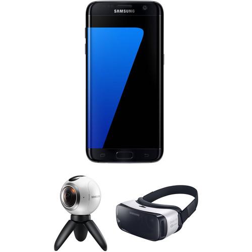 Samsung Galaxy S7 edge SM-G935F 32GB Smartphone and Virtual Reality Kit (Unlocked, Black)