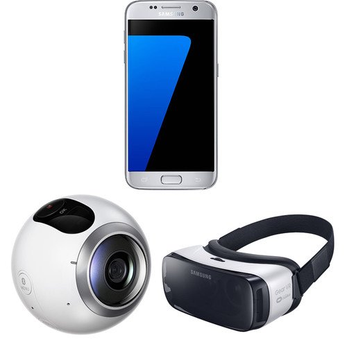 Samsung Galaxy S7 SM-G930F 32GB Smartphone and Virtual Reality Kit (Unlocked, Silver)