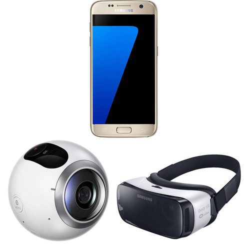 Samsung Galaxy S7 SM-G930F 32GB Smartphone and Virtual Reality Kit (Unlocked, Gold)