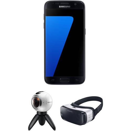 Samsung Galaxy S7 SM-G930F 32GB Smartphone and Virtual Reality Kit (Unlocked, Black)