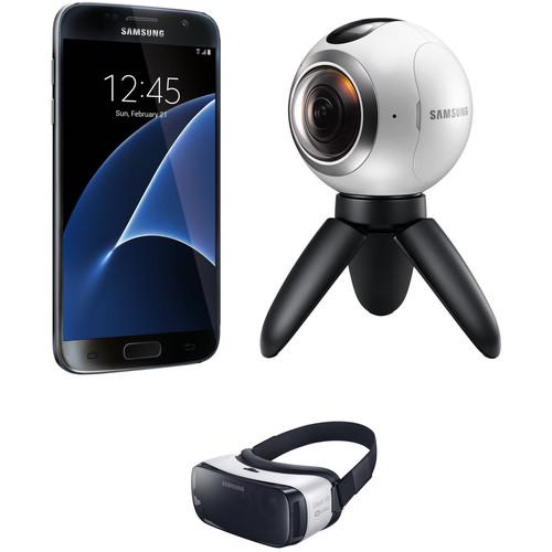 Samsung Galaxy S7 SM-G930U 32GB Smartphone and Virtual Reality Kit (Unlocked, Black)