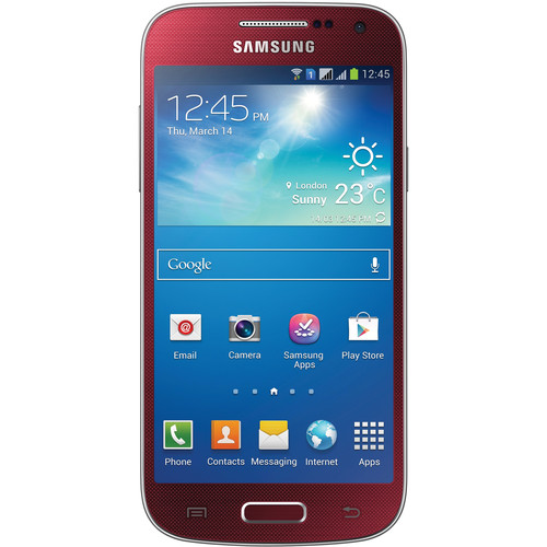 Samsung Galaxy S4 Mini GT-I9195I 8GB Smartphone (Unlocked, Red)