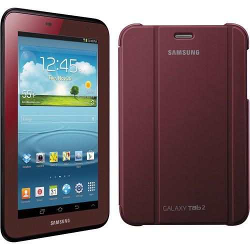 """Samsung 8GB Galaxy Tab 2 7.0"""" Tablet (Garnet Red)"""