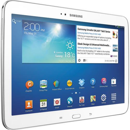 "Samsung 16GB Galaxy Tab 3 10.1"" Wi-Fi Tablet (White)"