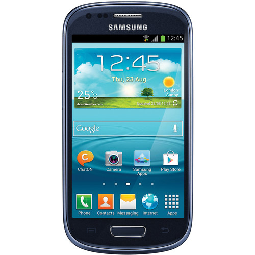 Samsung Galaxy S III Mini GT-I8190 International 8GB Smartphone (Unlocked, Blue)