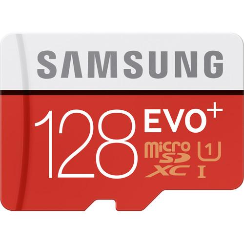 Samsung 128GB EVO+ UHS-I microSDXC Memory Card