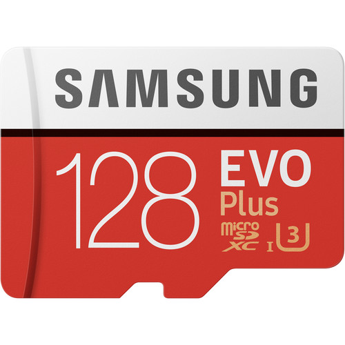 Samsung 128GB EVO Plus UHS-I microSDXC Memory Card with SD Adapter