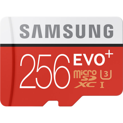 Samsung 256GB EVO+ microSDXC Memory Card with SD Adapter