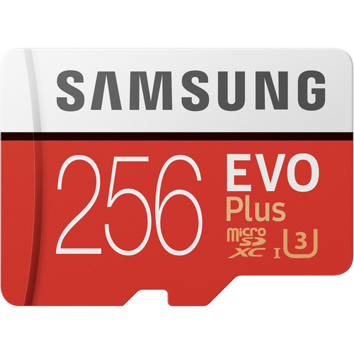Samsung 256GB EVO Plus UHS-I microSDXC Memory Card with SD Adapter