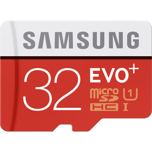 Samsung 32GB EVO+ UHS-I microSDHC U1 Memory Card (Class 10) with Adapter
