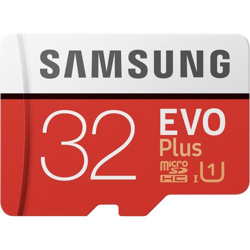 Samsung 32GB EVO Plus UHS-I microSDHC Memory Card with SD Adapter