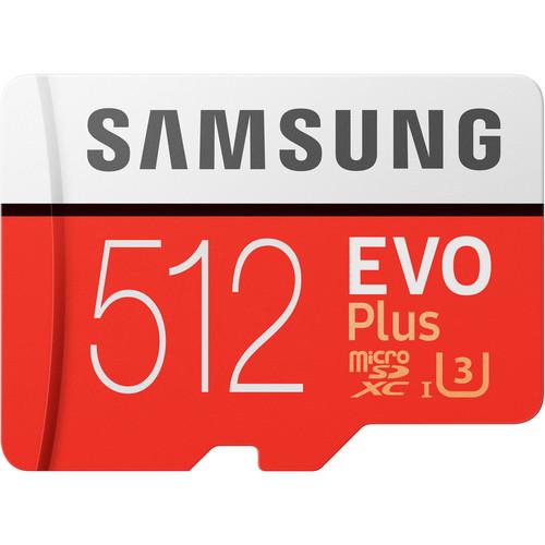 Samsung 512GB EVO Plus UHS-I microSDXC Memory Card with SD Adapter