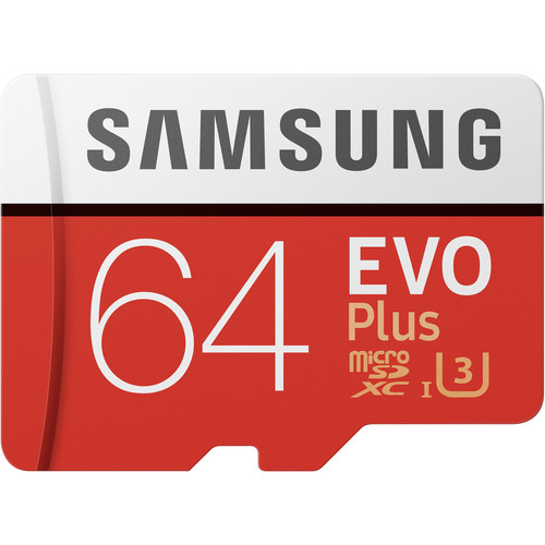 Samsung 64GB EVO+ UHS-I microSDXC Memory Card