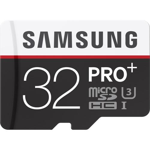 Samsung 32GB PRO+ UHS-I microSDHC Memory Card