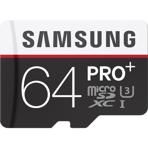 Samsung 64GB PRO+ UHS-I microSDXC U3 Memory Card (Class 10) with Adapter