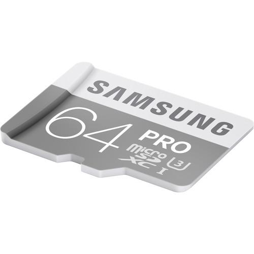Samsung 64GB PRO UHS-I microSDXC Memory Card