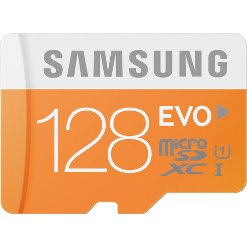 Samsung 128GB EVO UHS-I microSDXC U1 Memory Card (Class 10) with Adapter